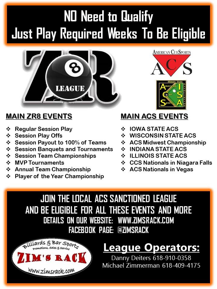 Zim's Rack - 8-Ball League (zr8)